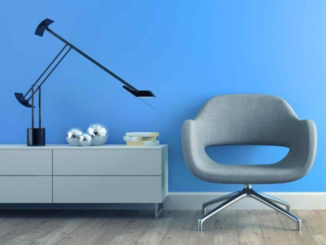 image chair blue wall