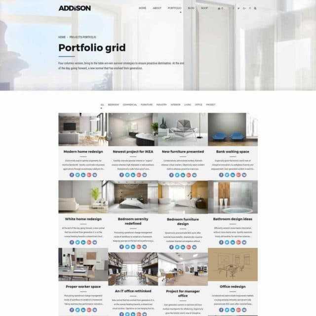 pages 18 portfolio grid